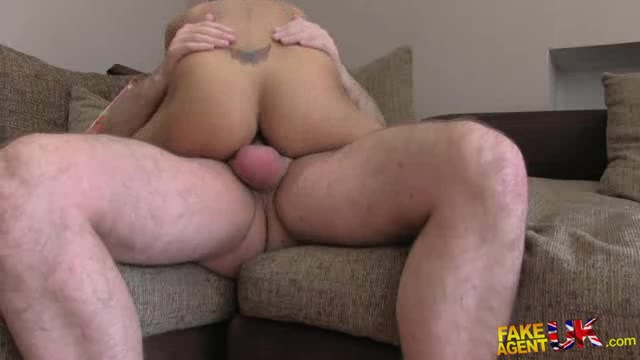 FakeAgentUK E179 Big Dick Proves Too Much For Petite Babes Tight Arse