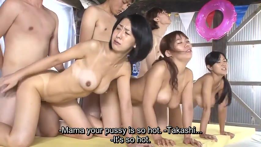Japanese Step Mom Creampie