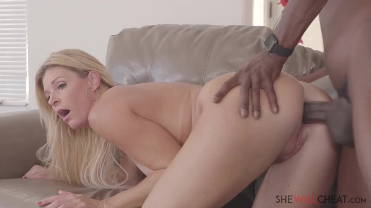 Blonde Milf Takes Two Cocks